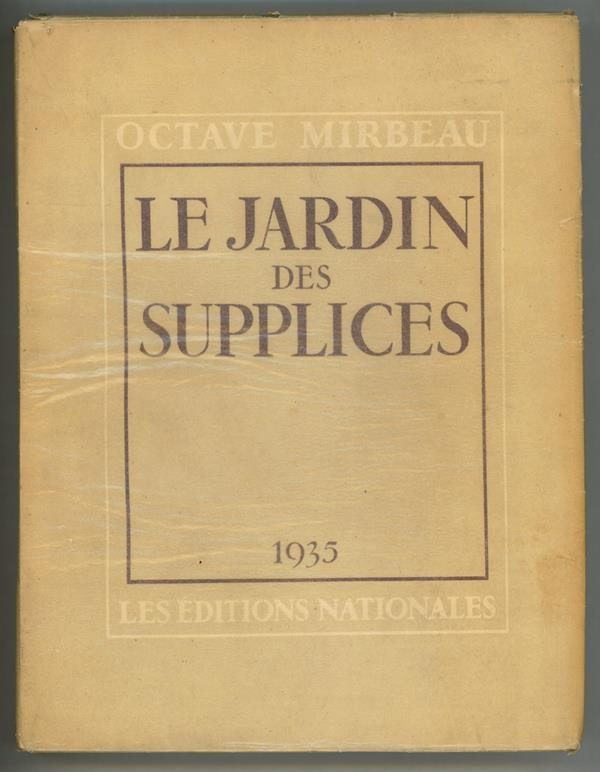 Antiquarian page 2 - Octave mirbeau le jardin des supplices ...