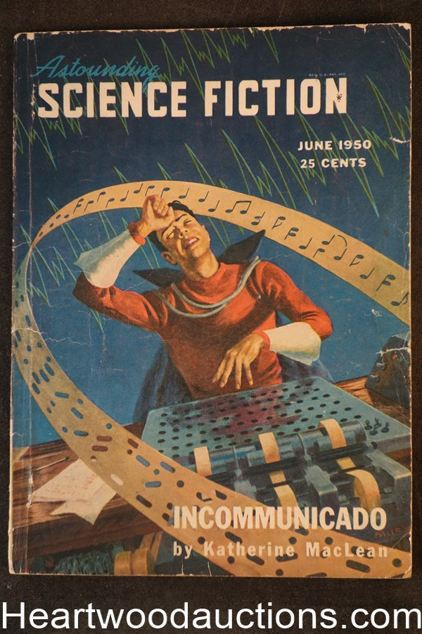 Astounding Science Fiction June 1950 1st published sf by Robinson, Asimov