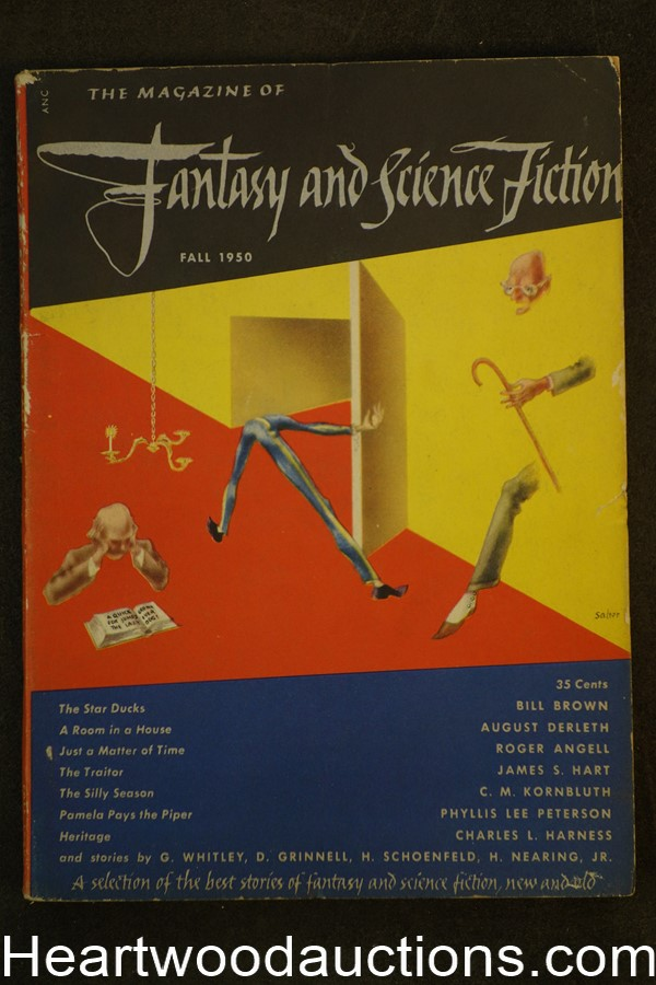 Fantasy and Science Fiction Fall 1950 Kornbluth, August Derleth