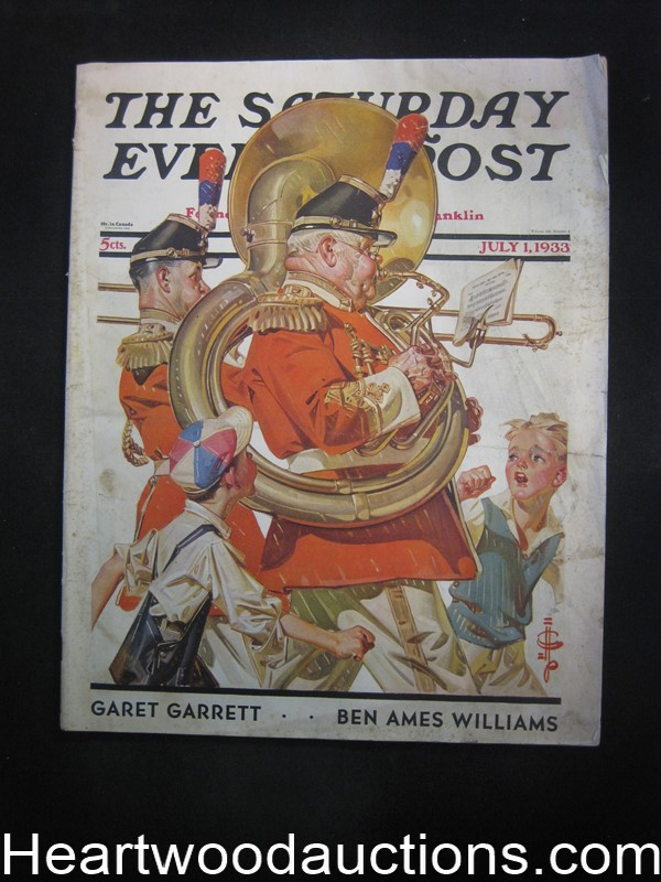 Saturday Evening Post Jul 1, 1933 J.C. Leyendecker Cvr