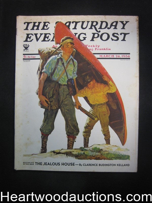 Saturday Evening Post Mar 24, 1934 Hiking Cvr, JP Marquand