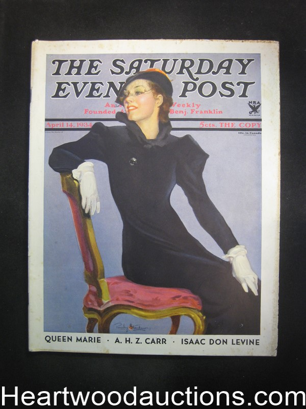 Saturday Evening Post Apr 14, 1934 Otto Fischer, Coca-Cola BC