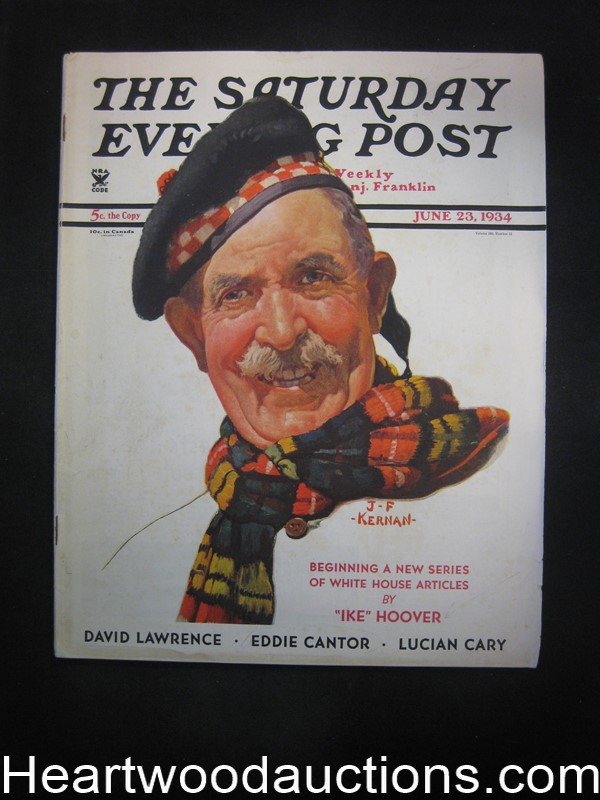 Saturday Evening Post Jun 23, 1934 Agatha Christie- Hercule Poirot, John LaGatta