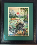 Original Art -Signed Frank R. Paul Painting April 1961 for the Giant Anniversary Issue of Amazing Stories