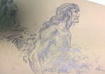Original Art by Roy G. Krenkel Jungle Man in Pencil