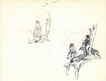 Roy G. Krenkel Original Art - Studies for Cave Girl, Two Sided
