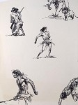 Roy G. Krenkel Original Art  - Ink Studies of Tarzan 1960s 9